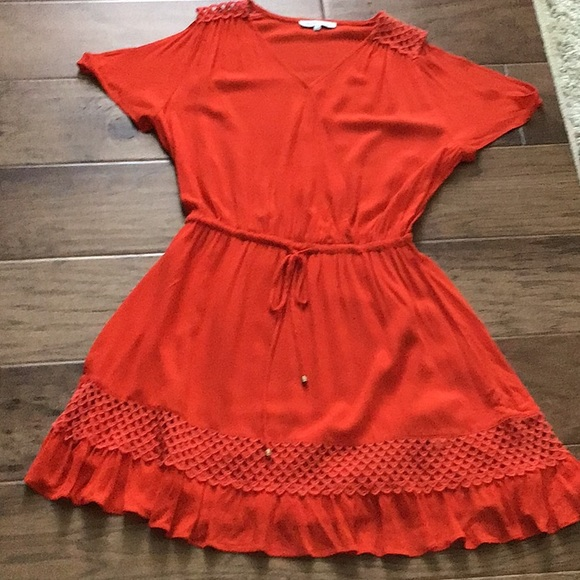 Heartloom Dresses & Skirts - Bright orange fully lined at the bottom dress